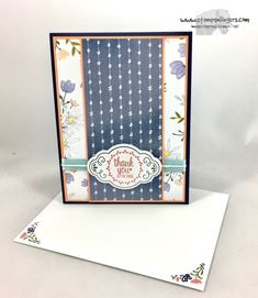 2017-2018 Stampin' Up! Annual Catalog Sneak Peek. I made this CAS card with the new (1 June!) Label Me Pretty Bundle and Delightful Daisy DSP. https://stampsnlingers.com/2017/04/16/stampin-up-label-me-pretty-sneak-peek/