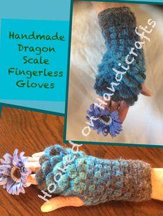 Www.facebook.com/Hookedonhandicrafts Dragon Scale, Handicraft, Fingerless Gloves, Crochet Necklace, Facebook, Handmade, Jewelry, Craft, Fingerless Mitts