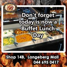 Good food and great laughter are the best medicine for this Sunday. Join the Cattle Baron Mossel Bay for a fabulous Buffet lunch and enjoy it with your family. Beef Dishes, Baron, Healthy Recipes, Healthy Food, Cattle, Thursday, Wednesday, Buffet, Laughter