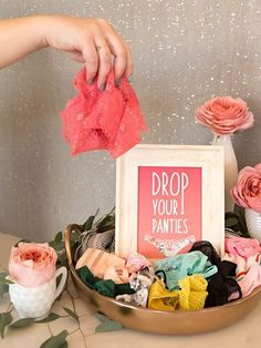 Learn how to make this Drop Your Panties bridal shower game with free printable cards!