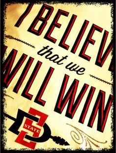 SDSU Basketball. Black. Red. I believe that we... 'NUFF SAID.