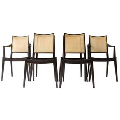 Edward Wormley Dining Chairs for Dunbar | From a unique collection of antique and modern dining room chairs at http://www.1stdibs.com/furniture/seating/dining-room-chairs/
