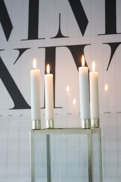 Homevialaura | Fourth advent | Brass candle holder | Playtype calendar poster