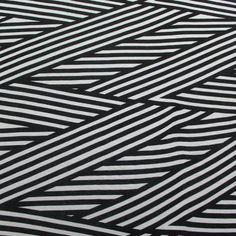 Black Nautical Flag Rayon Jersey Knit Fabric
