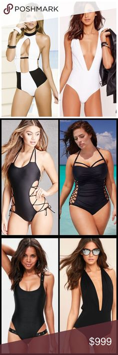 ISO LONG / TALL One Piece Swimsuits ISO One Piece Swimsuits. I'm 5'8, so I've been having a hard time finding one pieces that are for tall / long torso. I don't know what size but Currently I am 34DD bust, 29 inch waist, 43 inch hip, with a big booty, so I prefer a bit more coverage in the back if possible. I do like cutouts, Lace up Corset, Deep V plunge neckline (not too low that it shows tummy tho), similar to styles in pics. Prefer black, white, red, or navy suits. Tag me or let me know…