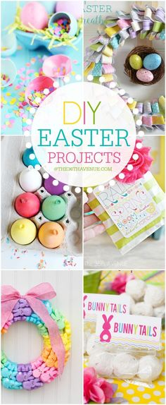 DIY Easter Projects. Cute Easter gift and home decor ideas!