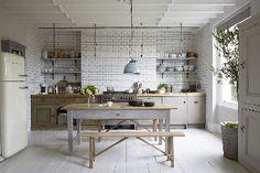 Du gris pour une cuisine de campagne chic