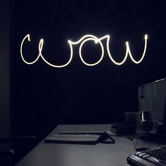 A light painting experiment captured with a slow shutter process