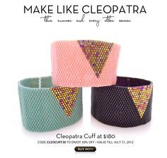 Cleopatra Cuffs by JeannieRichard  Going to try this pattern on my new  mirrix loom