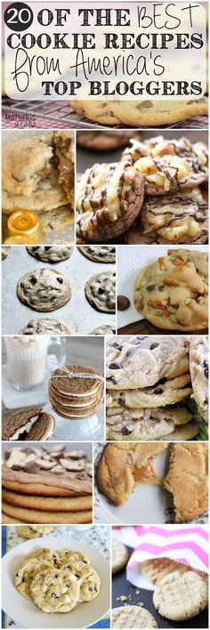 Want to make cookies for fall entertaining this year? Check out 20 of the best cookie recipes from America's Top Bloggers, and make these for the perfect dessert.