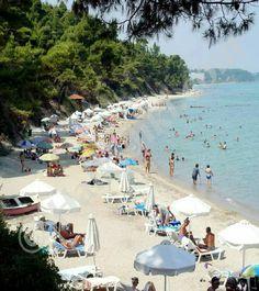 Kriopigi beach, ( Kassandra), Chalkidiki, Greece Vacation Trips, Vacation Spots, Ocean Pictures, Ocean Pics, Porches, Halkidiki Greece, Exotic Beaches, Beautiful Places In The World, Travel Memories