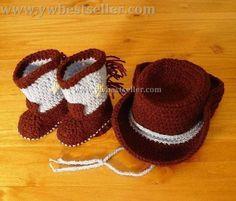 crochet cowgirl boots pattern | Crochet Western Cowboy Baby Booties Boots & Hat-China Crochet Western ...