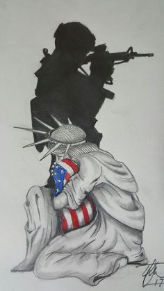 God Bless America, American Pride, Armed Forces, Overwatch, Unique Art, My Drawings, Make Me Smile, Cool Art, Art Projects