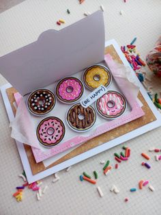 """Lawn Fawn """"Donut Worry"""" Stamp Set Hello Crafters! It's Tina from Cards and Coffee Time, today for my feature focus on Lawn Fawn I created a card using the """"Donut Worry&#822…"""