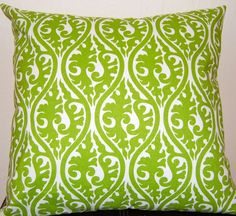 Items similar to Decorative Pillows Throw Pillows Kimoni Green Pillow Cushion Covers 20 x 20 Inches - Bright Green Kimoni on Etsy Green Pillows, Toss Pillows, Peacock Blue Bedroom, Bright Green, Dream Bedroom, Cushion Covers, Decorative Pillows, Sweet Home, New Homes