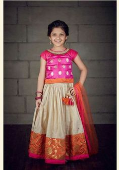 New Model Kids Party Wear Dress Collections Indian Dresses For Kids, Kids Indian Wear, Kids Ethnic Wear, Indian Clothes, Kids Party Wear Dresses, Dresses Kids Girl, Cute Dresses, Girl Outfits, Baby Dresses