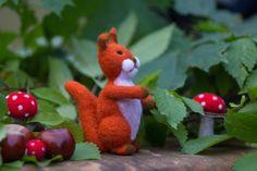 SALE wool squirrel Eco friendly toy Wool squirrel от WooolyWool