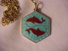 David Andersen Sterling Enamel Pisces Fish Charm