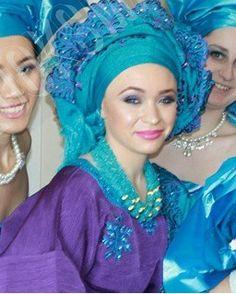 Attaché foulard turban gélé headwrap