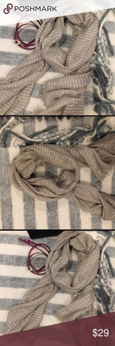 J Crew Luxury Silver Sparkle Striped Scarf Huge and luxurious J. Crew scarf is silver and sparklie.  This scarf is a lovely addition to your holiday wardrobe and will add a chic accent to any outfit. J. Crew Accessories Scarves & Wraps