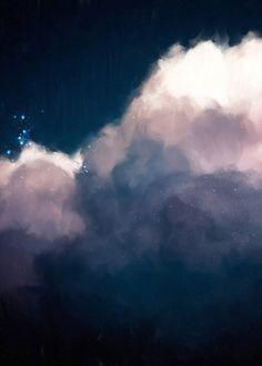 """""""Intrépide No. 1"""" Cloud Painting"""