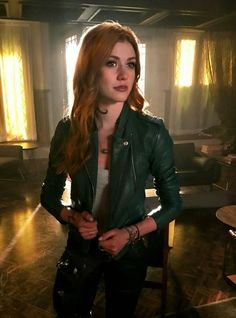 Katherine McNamara as Clary Fray Clary And Jace, Clary Fray, Katherine Mcnamara, Clary And Sebastian, Insurgent Quotes, Divergent Quotes, Tfios, Allegiant, Divergent Funny