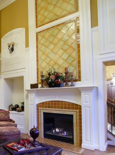 Tile Fireplace Mantels antique fireplace makeover project with bonita reproduction