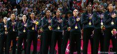"""US Women's Basketball Team, """"gold medal"""", golden moment!"""