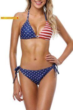 8a9386781fe Sociala Women'S Halter Triangle Bikini Swimsuits String Two Piece Bathing  Suit #fashion #clothing #