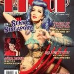 Sukki on the front cover of Pin Up America 2014.