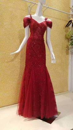 Evening Dress,Red Evening Dress,Sequined Evening Dress,Beaded Evening Dress,Mermaid Evening Dress,Off-shoulder Evening Dress,Spaghetti Straps Evening Dress,Formal Dress,Luxury Evening Dress,Floor Length Evening Dress,Exquisite Evening Dress