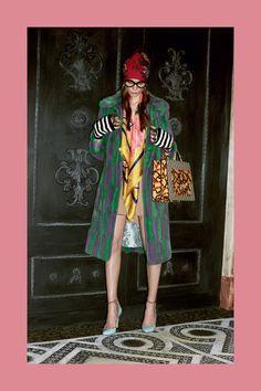 Color Fur Coat Gucci Prefall 2016