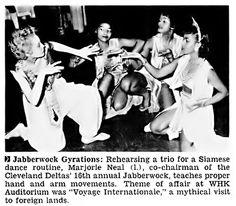 During the Cleveland, Ohio Chapter of Delta Sigma Theta Sorority 16th Annual Jabberwock - Jet Magazine, June 9, 1955, via Flickr.