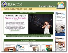 Women's History and Music in Our Schools Month - March 2015, BASCOM's Faculty Room offers resources for educators to help teach students about Women's History, celebrating Music in Our Schools and other monthly celebrations