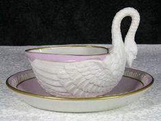 Ultra RARE Antique Royal Vienna Sorgenthal Bisque Porcelain Cabinet Cup Saucer