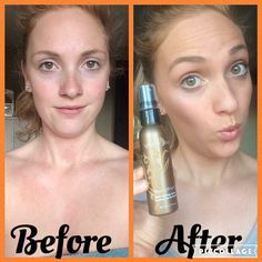 Super easy to use Spray Tan! ☀️😍   For a gorgeous, buildable golden brown (🍊🚫) tan , you need to try this spray!   Perfect for beginners to! 👌🏼