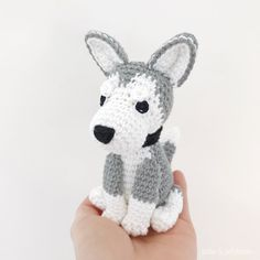 Made to Order HUSKY crochet amigurumi All Toys, Husky Puppy, Toy Sale, Hand Sewing, Dog Lovers, Hello Kitty, Crochet Patterns, Puppies, Make It Yourself