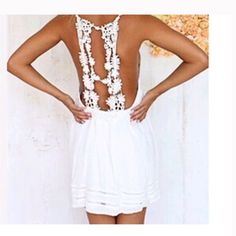 beautiful boho white lace spring summer dress S beautiful boho white lace spring summer dress size S new without price tags LF Dresses