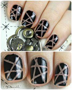 striping tape mani  #nailart #nailartfornubs