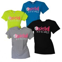 NEW  BASKETBALL In It To Win It T-Shirt Awesome colors!!!