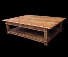 reclaimed wood table - beautiful coffee table