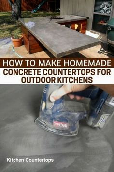 How To Make Homemade Concrete Countertops For Outdoor Kitchens - The mastery of . - How To Make Homemade Concrete Countertops For Outdoor Kitchens – The mastery of things like wood, - Making Concrete Countertops, Outdoor Kitchen Countertops, Backyard Kitchen, Outdoor Kitchen Design, Diy Kitchen, Kitchen Decor, Outdoor Kitchens, Awesome Kitchen, Build Outdoor Kitchen