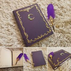 New moon spell book and amazing pen already in stock Witchcraft Books, Wiccan Spells, Magick, Magic Spells, Grimoire Book, Handmade Books, Handmade Notebook, Kawaii Accessories, Witch Aesthetic