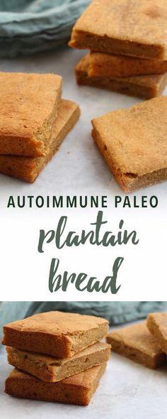 Paleo Plantain Bread (Autoimmune-Friendly) - Health For People For Life Plantain Bread, Ripe Plantain, Plantain Recipes, Paleo Dessert, Autoimmun Paleo, Paleo Pizza, Keto Bread, Comfort Food, Gluten Free Breakfasts