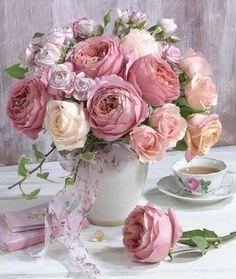 #цветы #букеты #розы #шебби