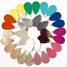 leather earrings rainbow