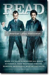 Sherlock Holmes READ Poster with Jude Law and Robert Downey, Jr. by ALA. This is my favorite celebrity READ poster.