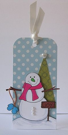 Snowman Tag by Paper Girl, via Flickr