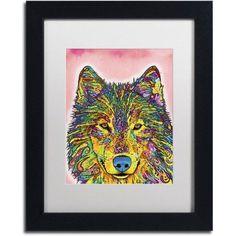 Trademark Fine Art Wolf Canvas Art by Dean Russo, White Matte, Black Frame, Size: 16 x 20