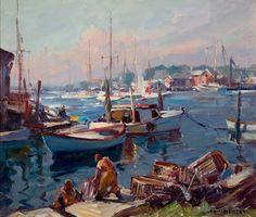 Smith Cove, Gloucester by Emile Albert Gruppé (1896-1978)